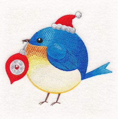 Roly-Poly Bluebird Christmas