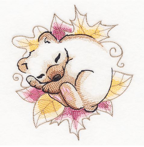 Soft Sleepy Autumn Bear
