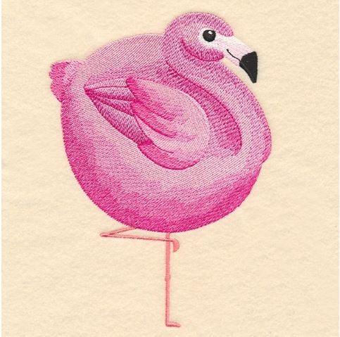 Roly-Poly Flamingo