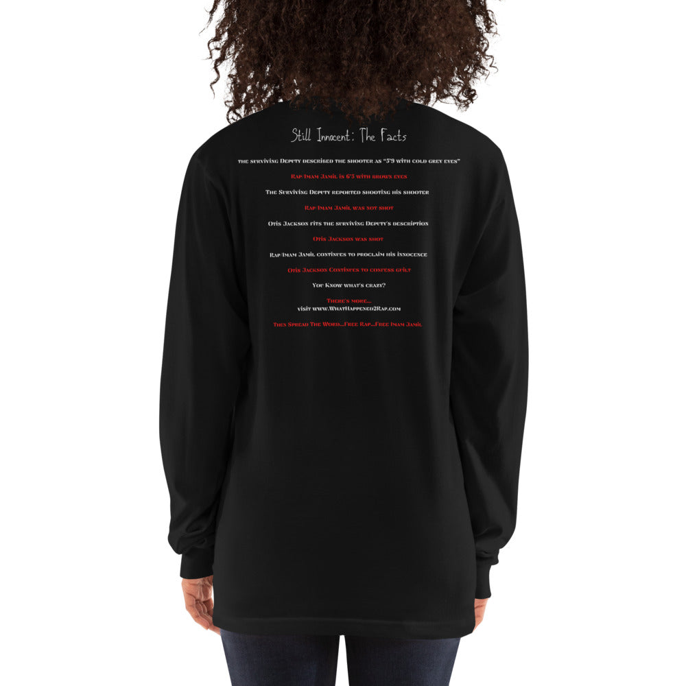 Still Innocent Free Rap Long sleeve Black Tee