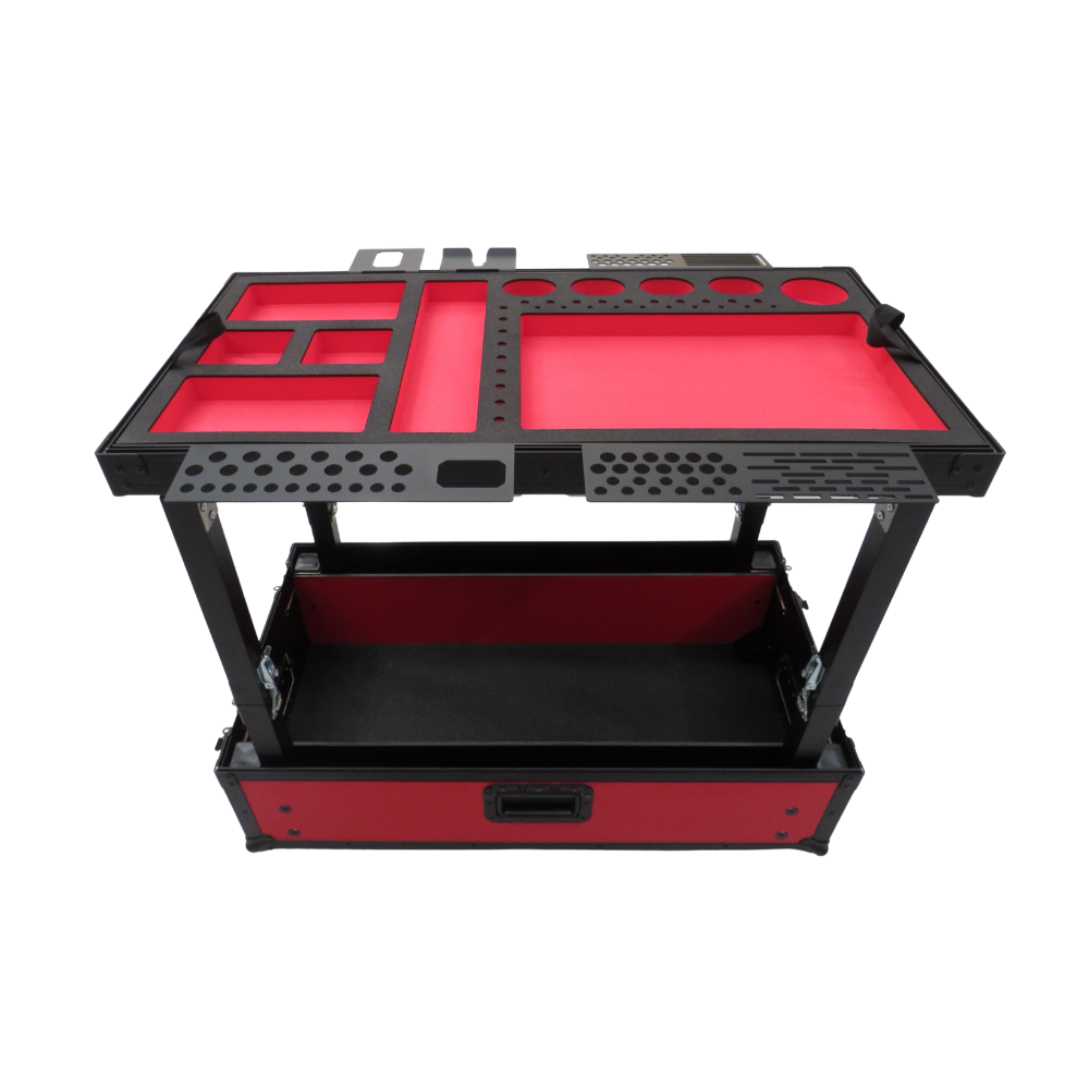 Small Red TDN Tool Cart | Series 2 | Collapsible Legs