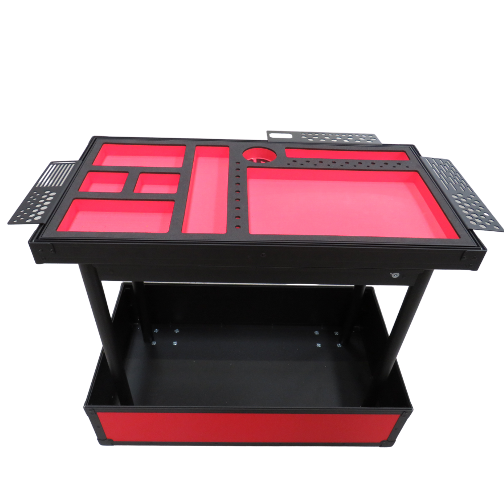 Small Red TDN Tool Cart | Series 2 | Fixed Leg