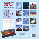Royal Air Force Red Arrows Calendar 2021 Back Cover