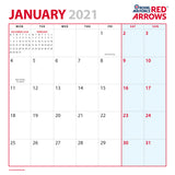 Royal Air Force Red Arrows Calendar 2021 January Preview