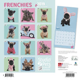 Frenchies by Studio Pets Square 2019 Calendar