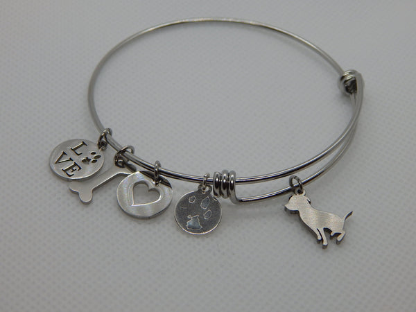Dog Breed Bangle Bracelet
