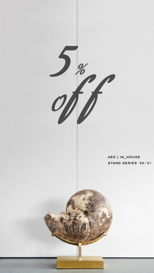 The Fossil Store AES stand series 5% off sale for interior statements