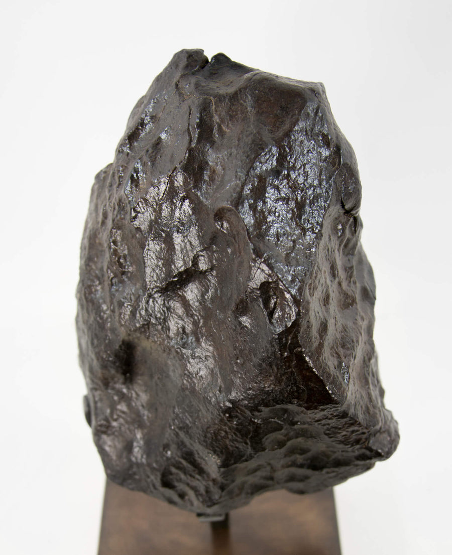 NWA Chondrite Meteorite on Brass 7200g