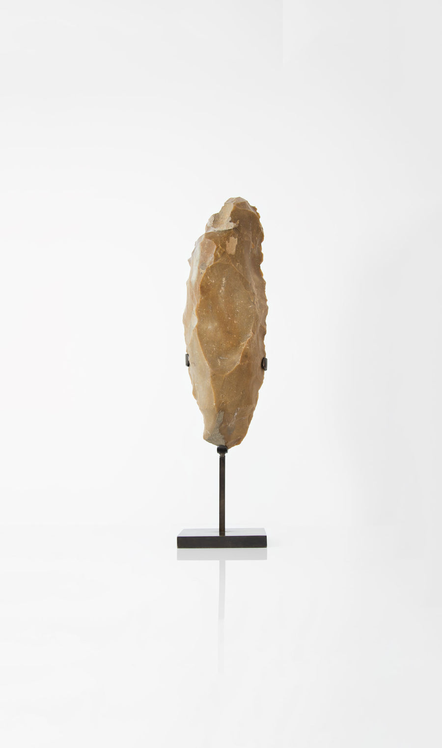 A stunning museum-standard rare authentic Neolithic core flint measuring 372mm created by an ancient hand
