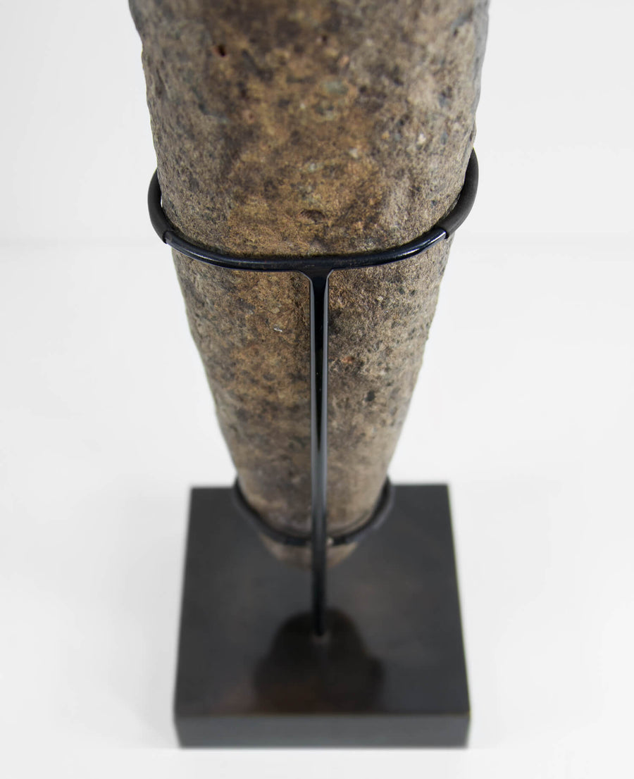 Neolithic Stone Pestle on Bronze Stand
