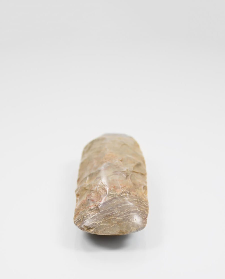 A stunning museum-standard rare authentic Neolithic hand axe measuring 136mm created by an ancient hand