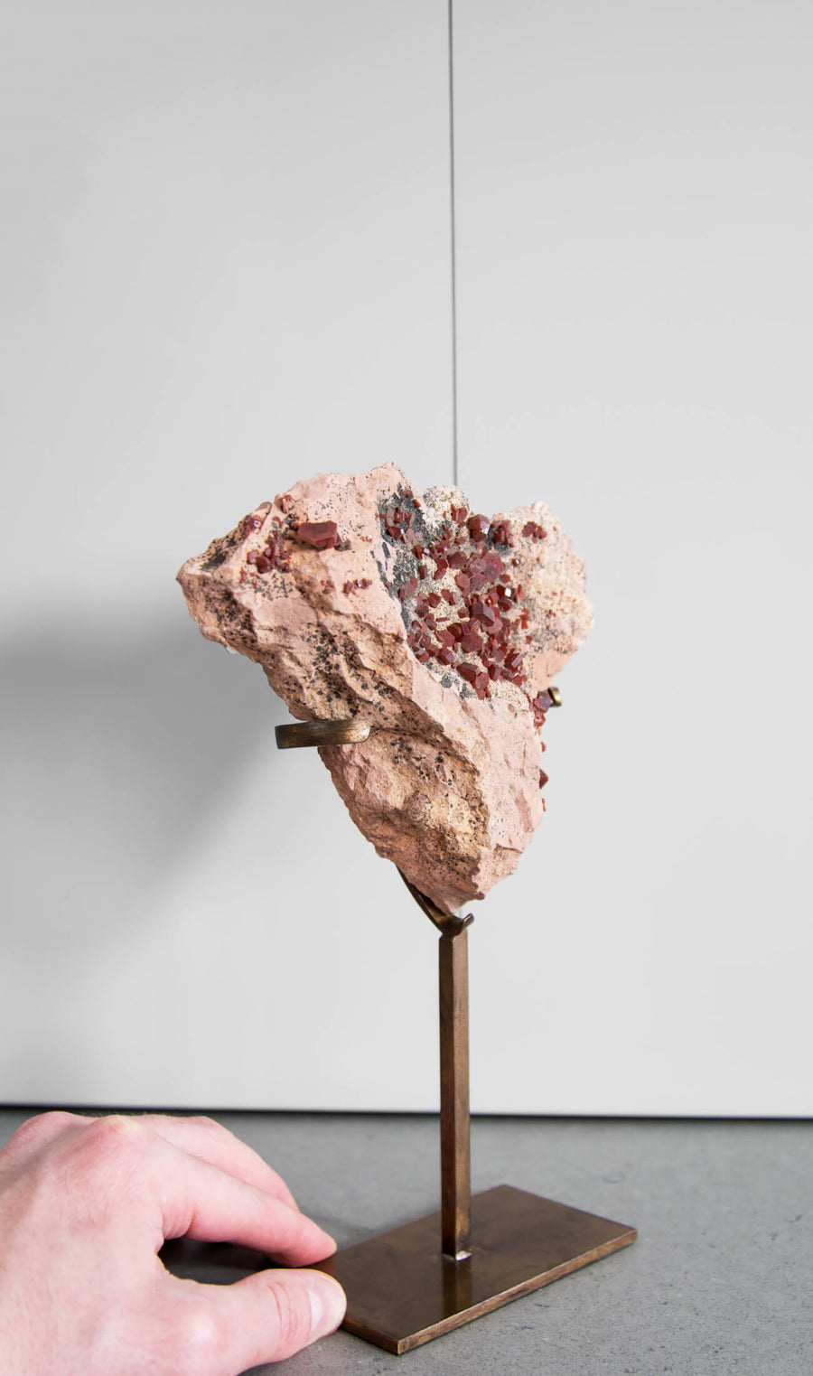 Vanadanite on Bronze Stand 231mm