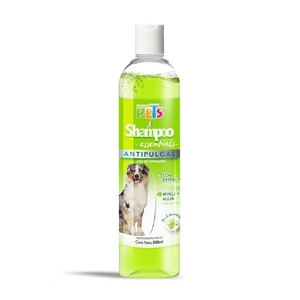 SHAMPOO ESSENTIALS ANTIPULGAS 500 ML.