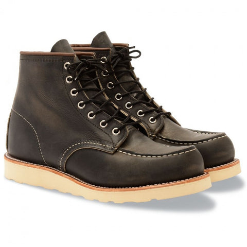 RED WING CLASSIC MOC TOE 8890 CHARCOAL ROUGH AND TOUGH BOOTS