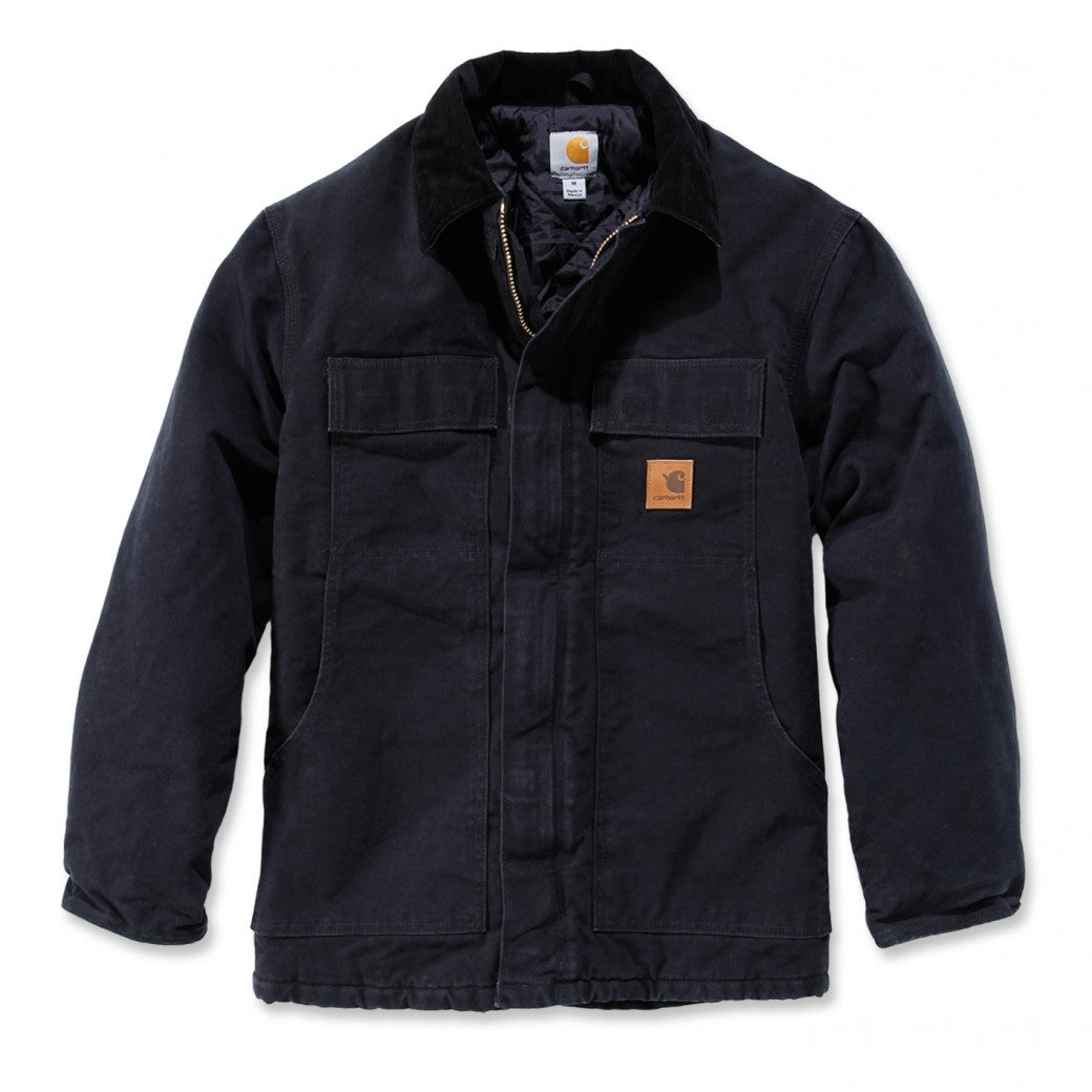 CARHARTT SANDSTONE BLACK TRADITIONAL COAT