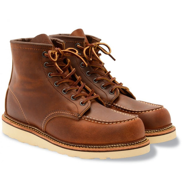 RED WING CLASSIC MOC TOE 1907 COPPER ROUGH AND TOUGH LEATHER BOOTS