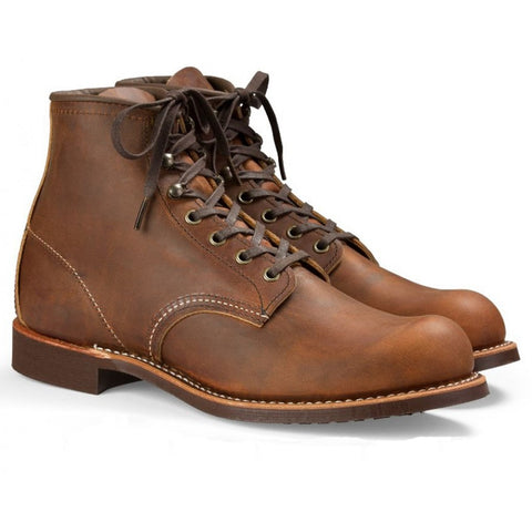 RED WING BLACKSMITH 3343 COPPER ROUGH AND TOUGH LEATHER BOOTS