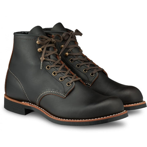 RED WING BLACKSMITH 3345 BLACK PRAIRIE LEATHER BOOTS