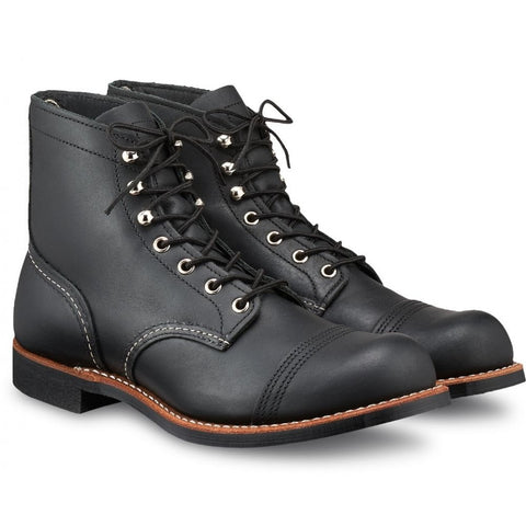 RED WING IRON RANGER 8084 BLACK HARNESS LEATHER BOOTS