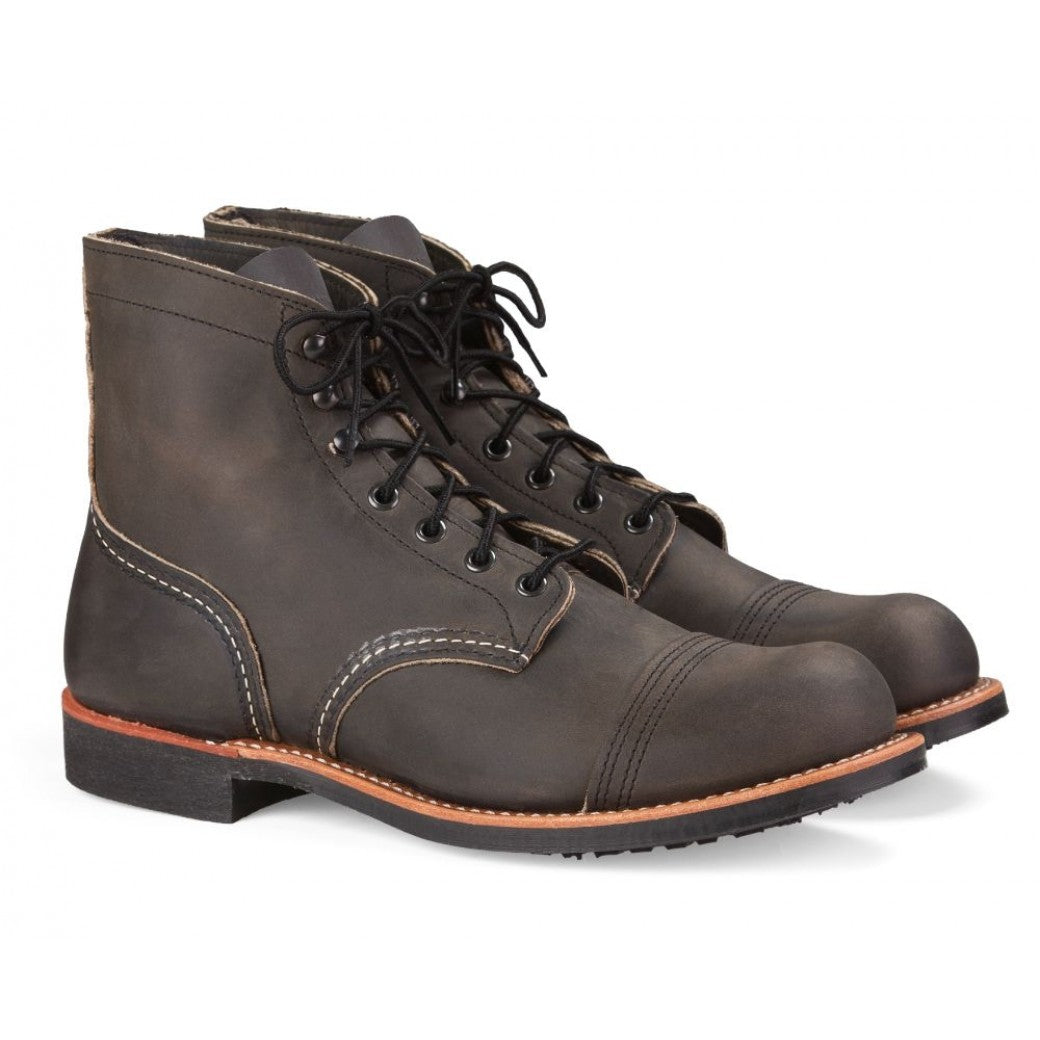 RED WING IRON RANGER 8086 CHARCOAL ROUGH & TOUGH BOOTS