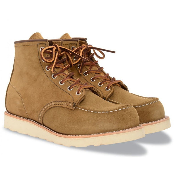 RED WING CLASSIC MOC TOE 8881 OLIVE MOHAVE BOOTS