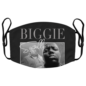 Biggie Smalls Notorious B.I.G. 90s Hip Hop Reusable Premium Face Mask Cover with Filters