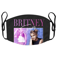 Load image into Gallery viewer, Britney Spears 90s Music Reusable Premium Face Mask Cover with Filters