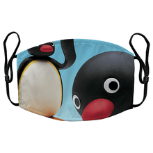 Load image into Gallery viewer, Pingu Retro 80s Reusable Premium Face Mask Cover with Filters