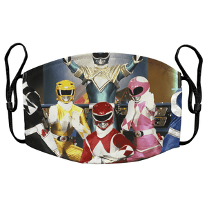 Power Rangers 90s TV Reusable Premium Face Mask Cover with Filters