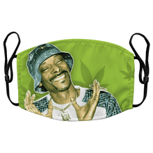Load image into Gallery viewer, Snoop Dogg Reusable Premium Face Mask Cover with Filters