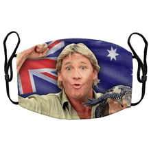 Load image into Gallery viewer, Steve Irwin The Crocodile Hunter Reusable Premium Face Mask Cover with Filters