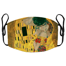 Load image into Gallery viewer, The Kiss by Gustav Klimt Reusable Premium Face Mask Cover with Filters