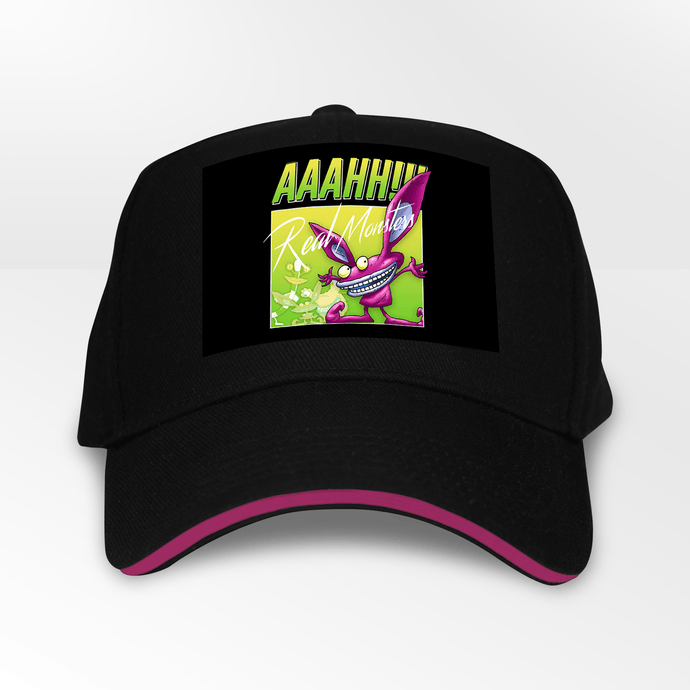 Aaahh!!! Real Monsters Retro 90s 5 Panel Throwback Cap - Timeless Tees