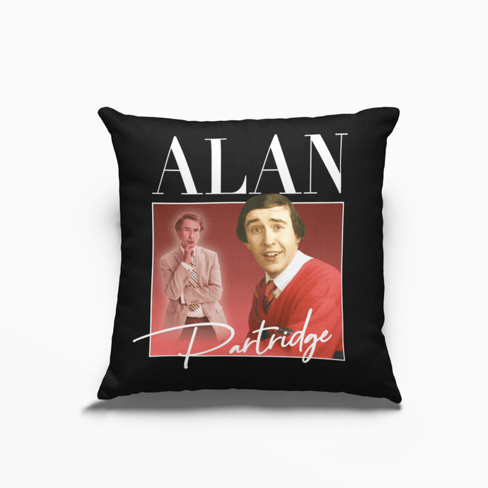 Alan Partridge Steeve Coogan Poly Linen Throwback Cushion - Timeless Tees