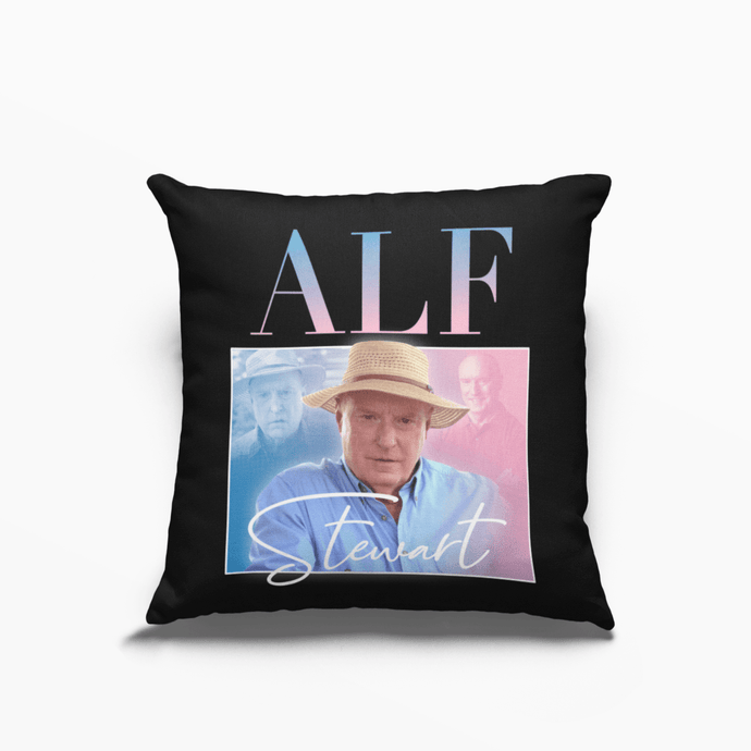 Alf Stewart Home and Away Ray Meagher Poly Linen Throwback Cushion - Timeless Tees