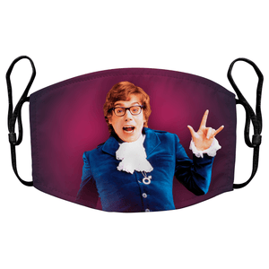 Austin Powers Groovy Baby Reusable Premium Face Mask Cover with Filters - Timeless Tees