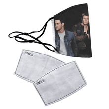 Load image into Gallery viewer, Blue Boy Band Reusable Premium Face Mask Cover with Filters - Timeless Tees