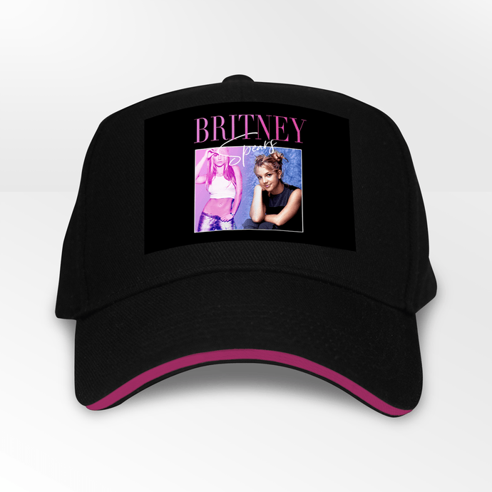 Britney Spears 90s Music 5 Panel Throwback Cap - Timeless Tees