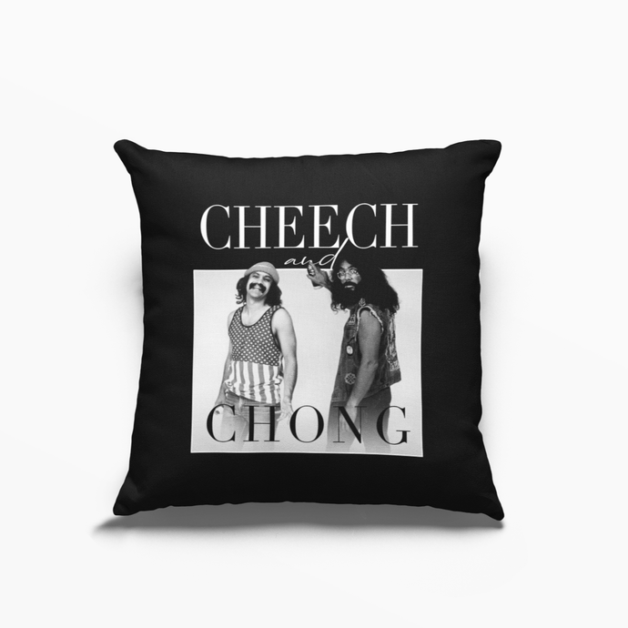 Cheech and Chong Poly Linen Throwback Cushion - Timeless Tees