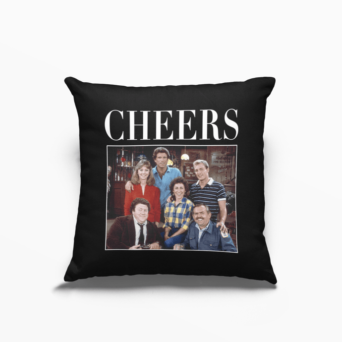 Cheers Poly Linen Throwback Cushion - Timeless Tees