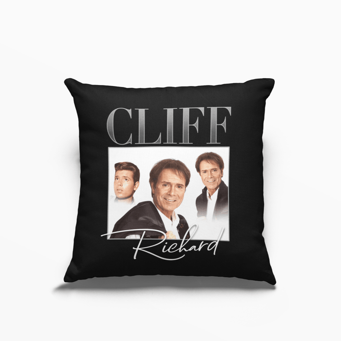 Cliff Richard Poly Linen Throwback Cushion - Timeless Tees