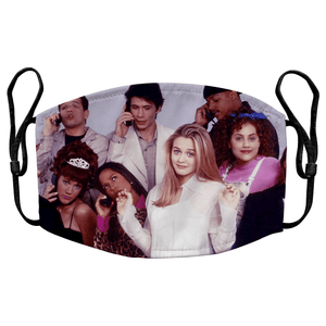 Clueless 02 90s Movie Reusable Decorative Face Mask with Filters - Timeless Tees