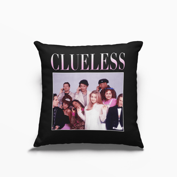 Clueless 90s Movie Poly Linen Throwback Cushion - Timeless Tees