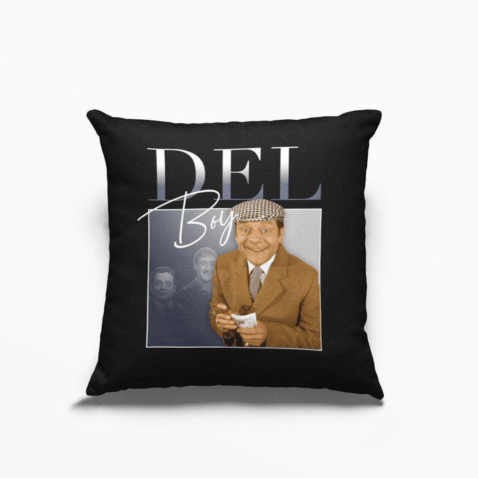 Del Boy Only Fools And Horses David Jason Poly Linen Throwback Cushion - Timeless Tees
