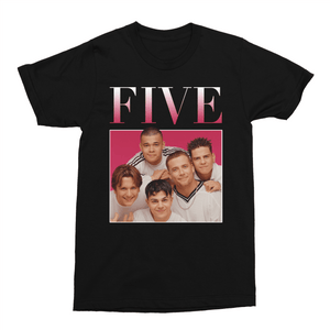 Five Boy Band 90s Music Unisex Vintage Throwback T-Shirt - Timeless Tees