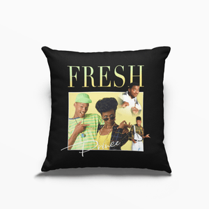 Fresh Prince of Bel-Air Will Smith 90s TV Poly Linen Throwback Cushion - Timeless Tees