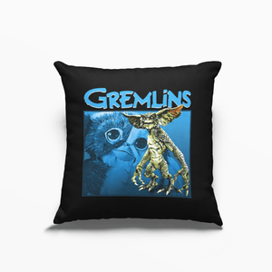 Gremlins 80s Movie Poly Linen Throwback Cushion - Timeless Tees