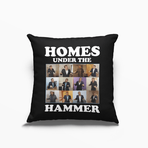 Homes Under the Hammer Martin Roberts Poly Linen Throwback Cushion - Timeless Tees