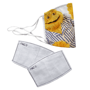 Honey Monster Sugar Puffs Reusable Decorative Face Mask with Filters - Timeless Tees