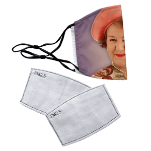 Hyacinth Bucket Keeping Up Appearances Reusable Premium Face Mask Cover with Filters - Timeless Tees